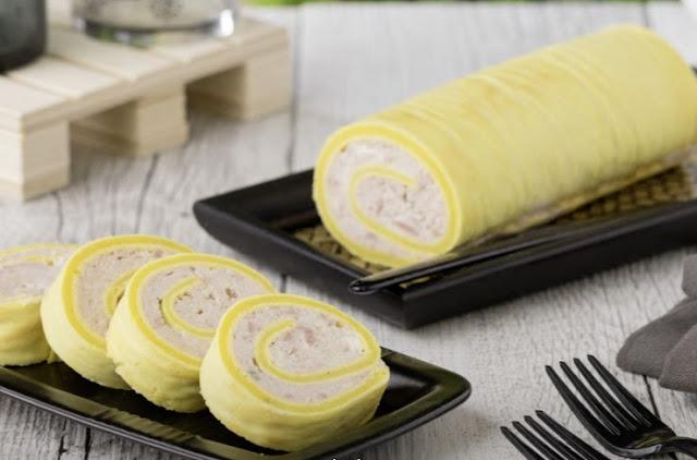 Rollo de queso y jamón cocido