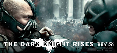 The Dark Knight Rises Theatrical Movie Banner Set 1 - Tom Hardy as Bane & Christian Bale as Batman