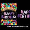 Balon Foil Huruf HAPPY BIRTHDAY Monochrome