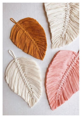 make macrame feathers for jewelry, art, accessories and embellishments