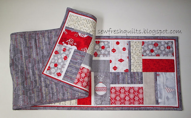 http://sewfreshquilts.blogspot.ca/2013/10/modern-quilted-christmas-runner.html