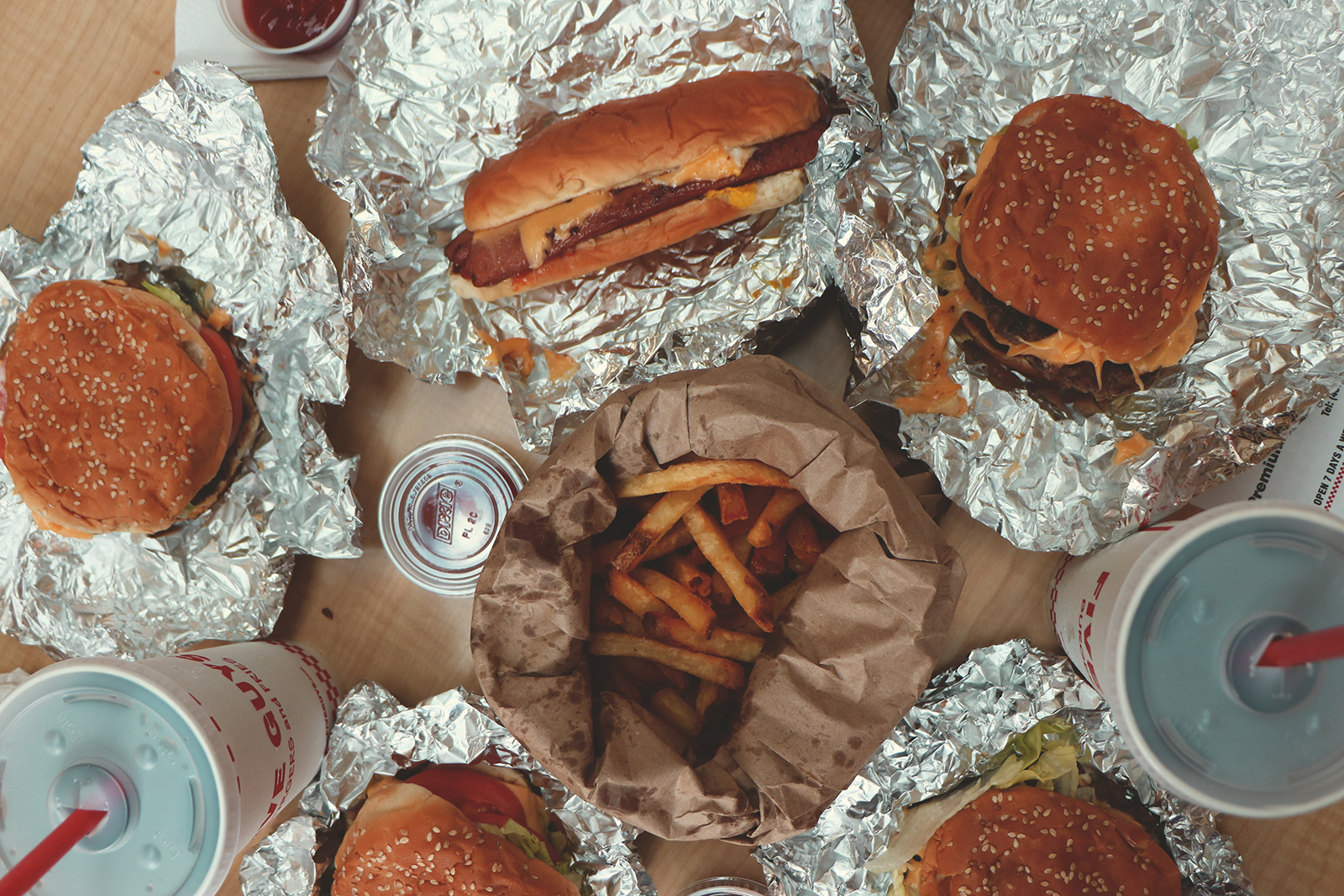 almoço no five guys
