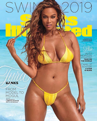 Tyra Banks Sizzles On The Cover Of Sports Illustrated Swimsuit Issue.