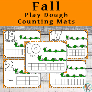 Kindergarten Worksheets And Games FREE Fall Playdough Counting Mats