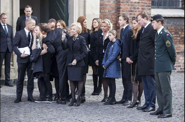 Crown Prince Frederik of Denmark and Crown Princess Mary of Denmark attended the funeral of family friend Peter Heering