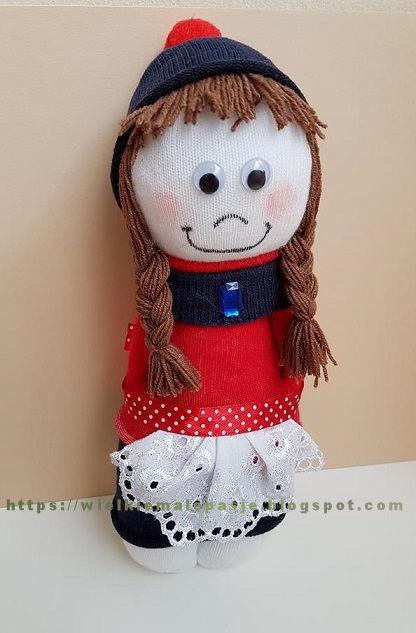skarpetkowe lalki, skarpetkowe wytwory, lalki ręcznie szyte