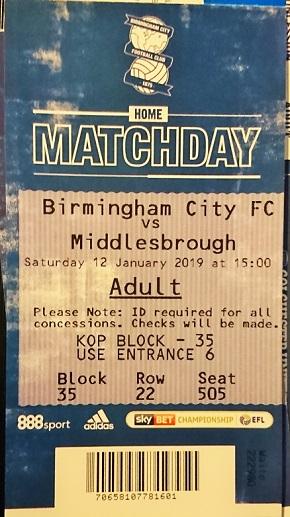 THE66POW: Birmingham City 1 v Middlesbrough 2 - EFL Championship