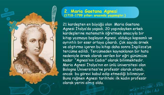 an essay on maria gaetana agnesi