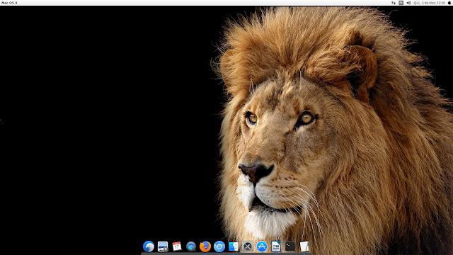 Área de Trabalho com Macbuntu