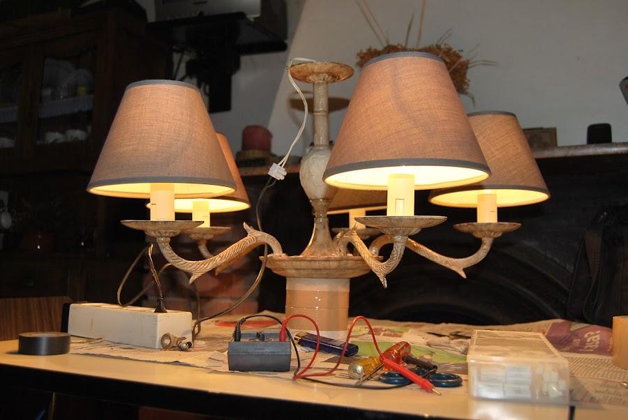 Reciclado y tuneado de lampara de techo