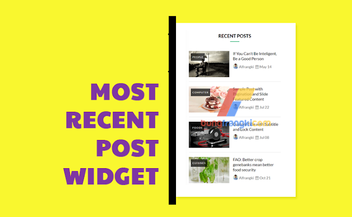 Recent Post Widget 2017 new for Blogger