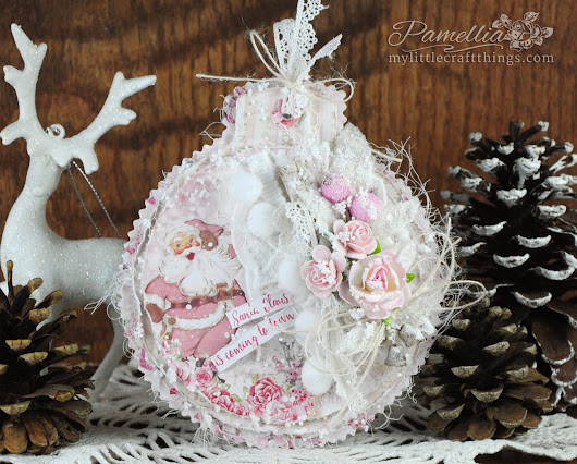 Pink Ornament Card