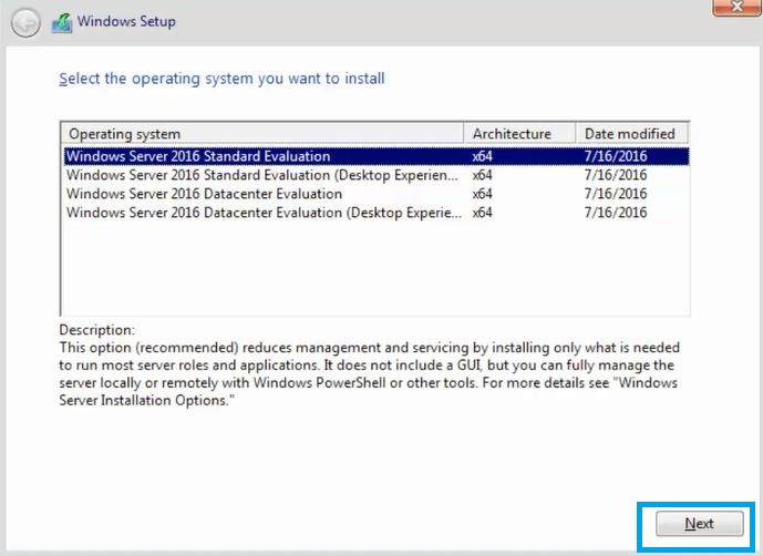 Windows Server 2016 System Requirement and Installation