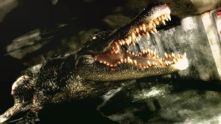 resident evil 2 alligator