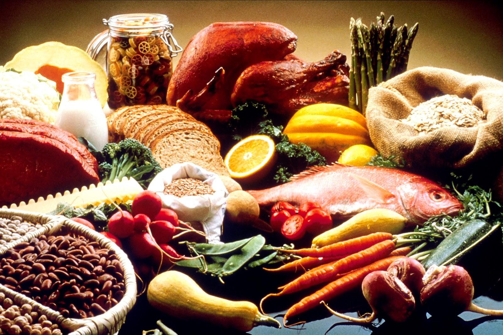 健康に良い食品の数々