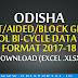 Odisha High School Bicycle Supply 2017-18 - Students Data Format Download (Excel .xlsx)