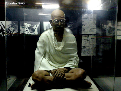 A Statue of Mahatma Gandhi in the Sabarmati Ashram