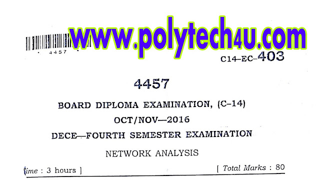 ECE C-14 NETWORK ANALYSIS QUESTIONPAPER OCT/NOV-2016