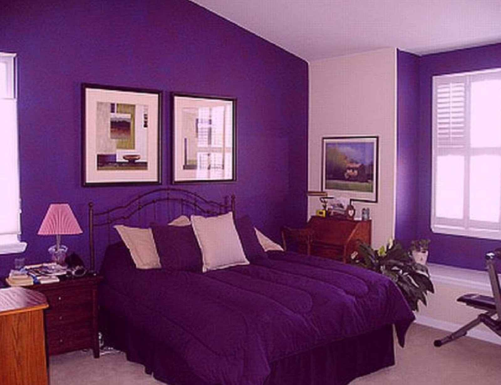 hot purple bedroom designs - Hot Bedroom Designs