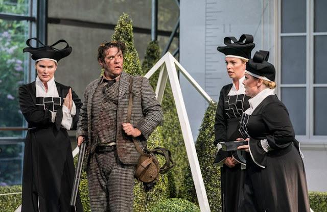 Mozart: Die Zaubertflote - Marta Fontanals Simmons, Katie Stevenson, Katherine Crompton. Jonathan Mcgovern - Garsington Opera 2018 (Photo Johan Persson)