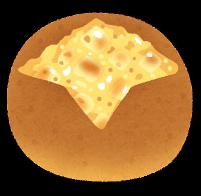 チーズパンのイラスト