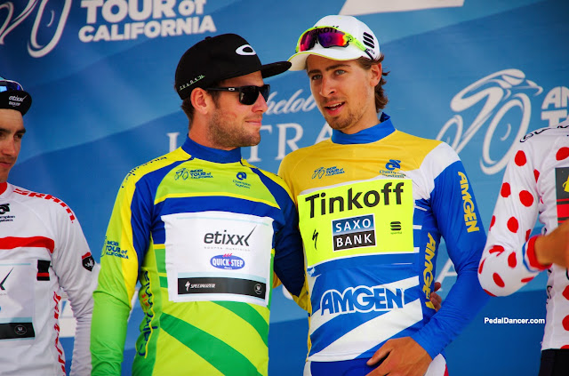 Mark Cavendish and Peter Sagan at the 2015 Tour of California.