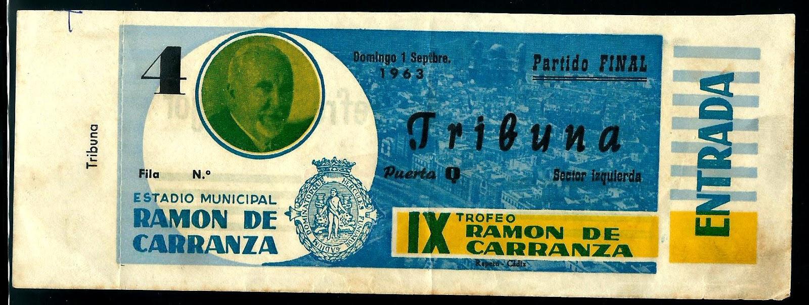 Bilhetes | Final Torneio Ramon Carranza 1963