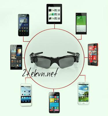 Kính Bluetooth tương thích với nhiều dòng điện thoại