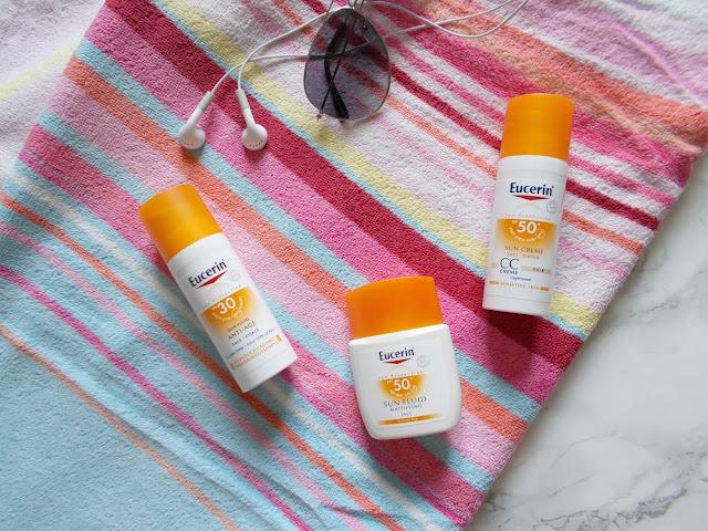 Kết quả hình ảnh cho Eucerin Sun Fluid Sensitive Protect SPF 50+ review