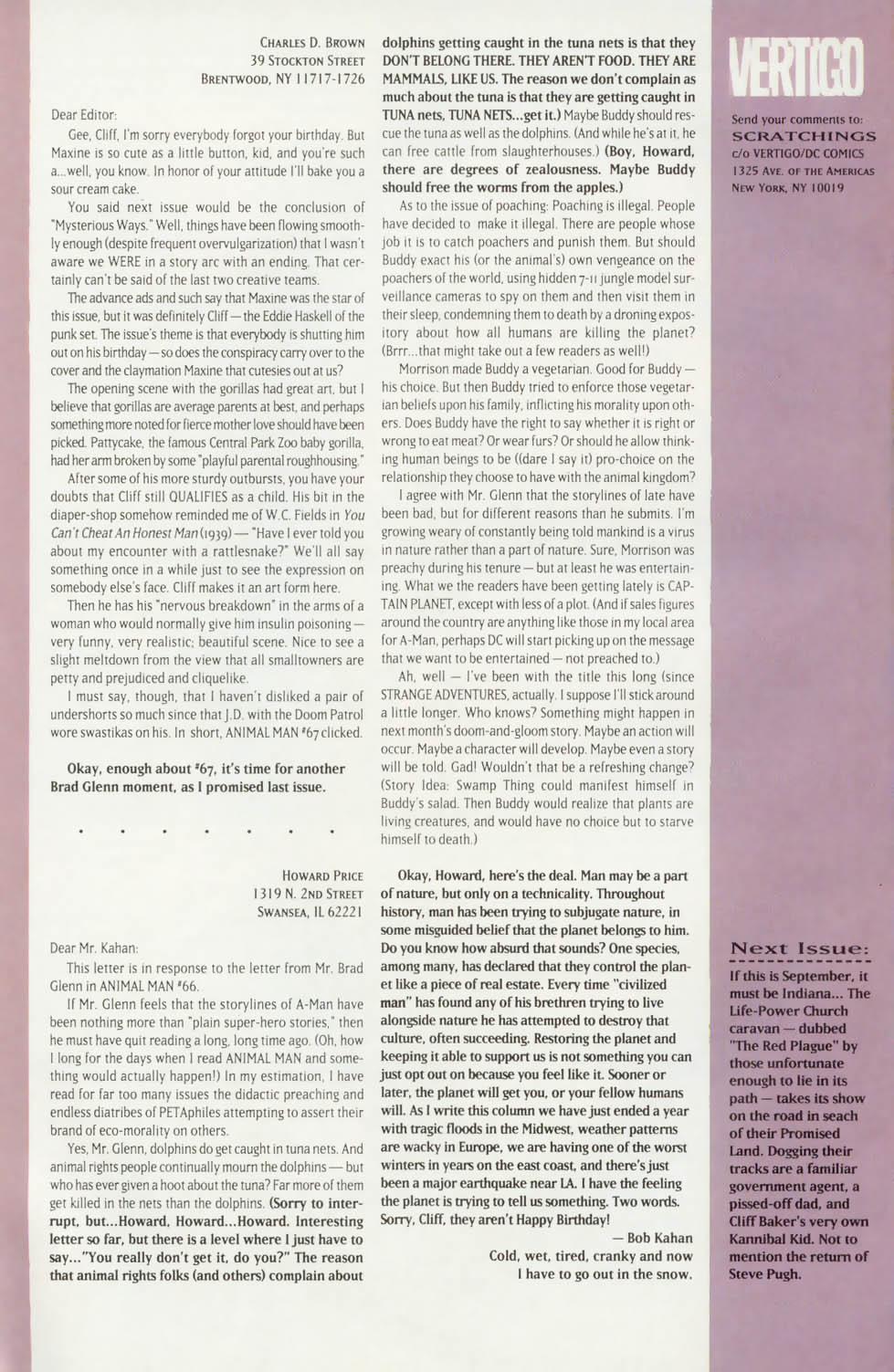 Read online Animal Man (1988) comic -  Issue #74 - 27