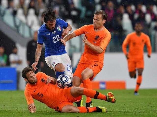 Laga Persahabatan: Italia Vs Belanda Berakhir 1-1
