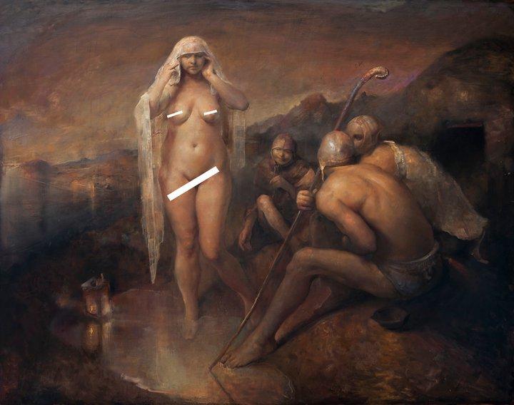 Mature nude women art