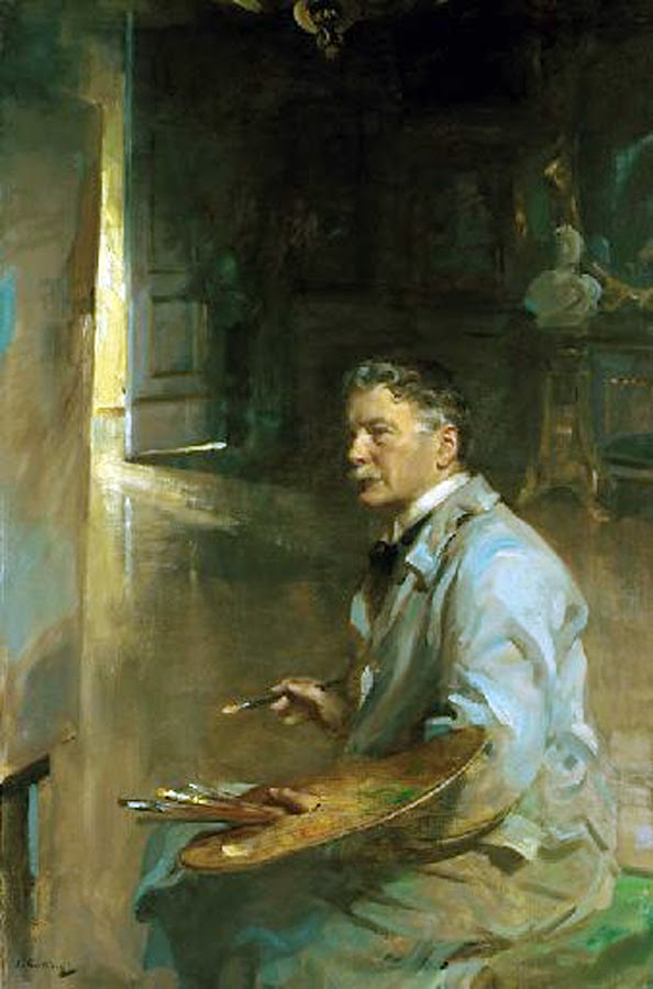 Patrick William Adam, Self Portrait, Portraits of Painters, Patrick William, Fine arts, William Adam, Portraits of painters blog, Paintings of Patrick William, Painter Patrick William
