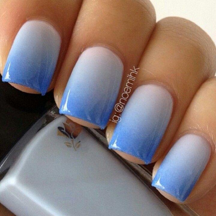 Blue ombre nails!
