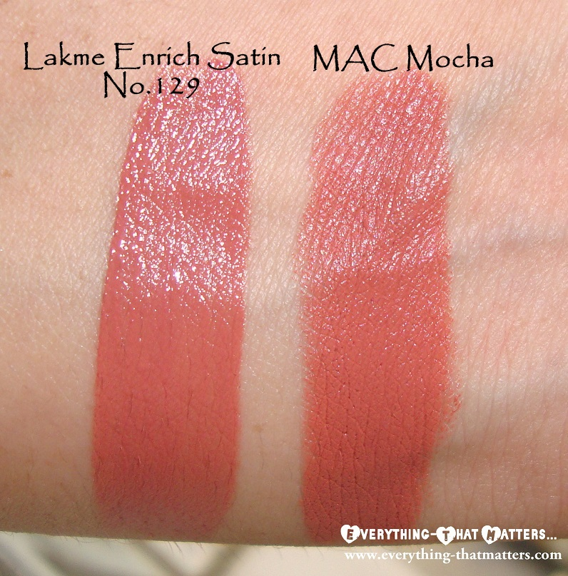 Bien-aimé Lakme Enrich Satin Lipstick No.129 Swatch And Review | Everything  UB59