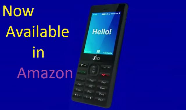 Ab Amazon India se Khareed sakte hain Jio Phone.