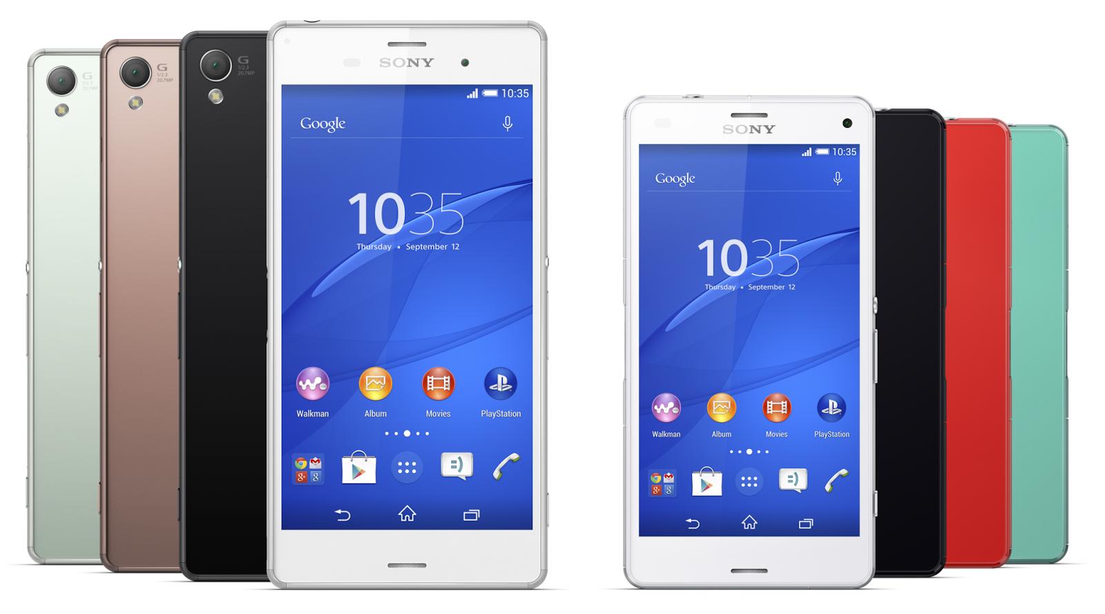 Sony Xperia Z3 dan Sony Xperia Z3 Compact