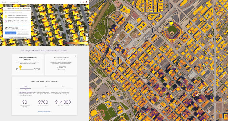 You The Solar Potential Of Your Home And City Allowing You To Realize Its Renewable Potential The Image On The Right Shows How Much Sunshine Denver