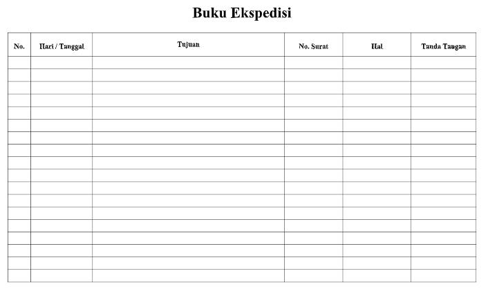 Contoh Format Buku Ekspedisi Tk Paud Ruang Guru Paud