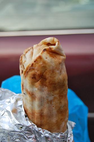 wrap pita au poulet : le shawarma