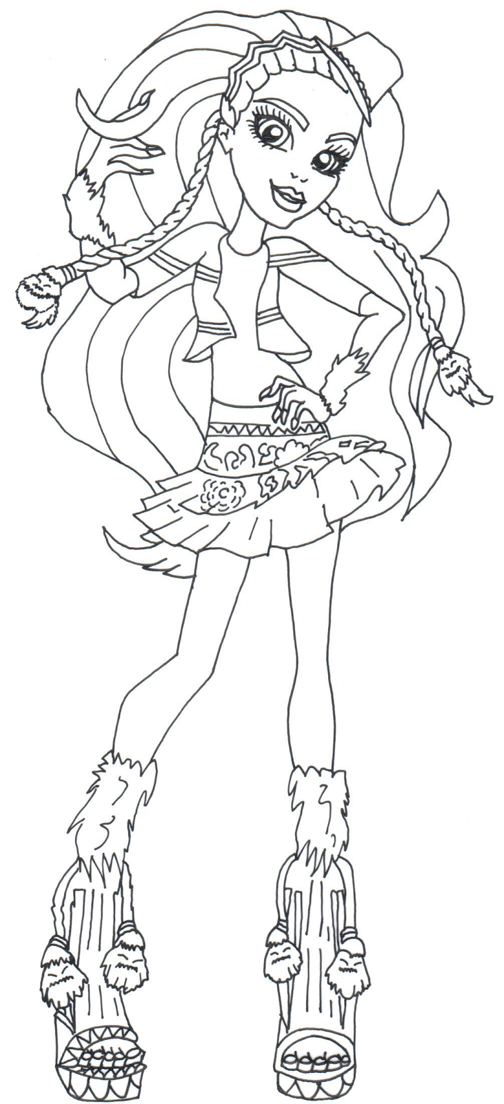 Free printable monster high coloring pages october 2015 for Monster high color pages free