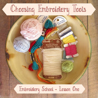Lesson One Embroidery Materials by Allison for Sweater Doll