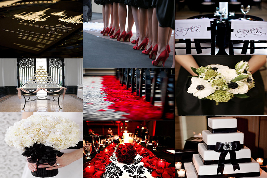 Summer Wedding Idea A Black White And Silver New Year S