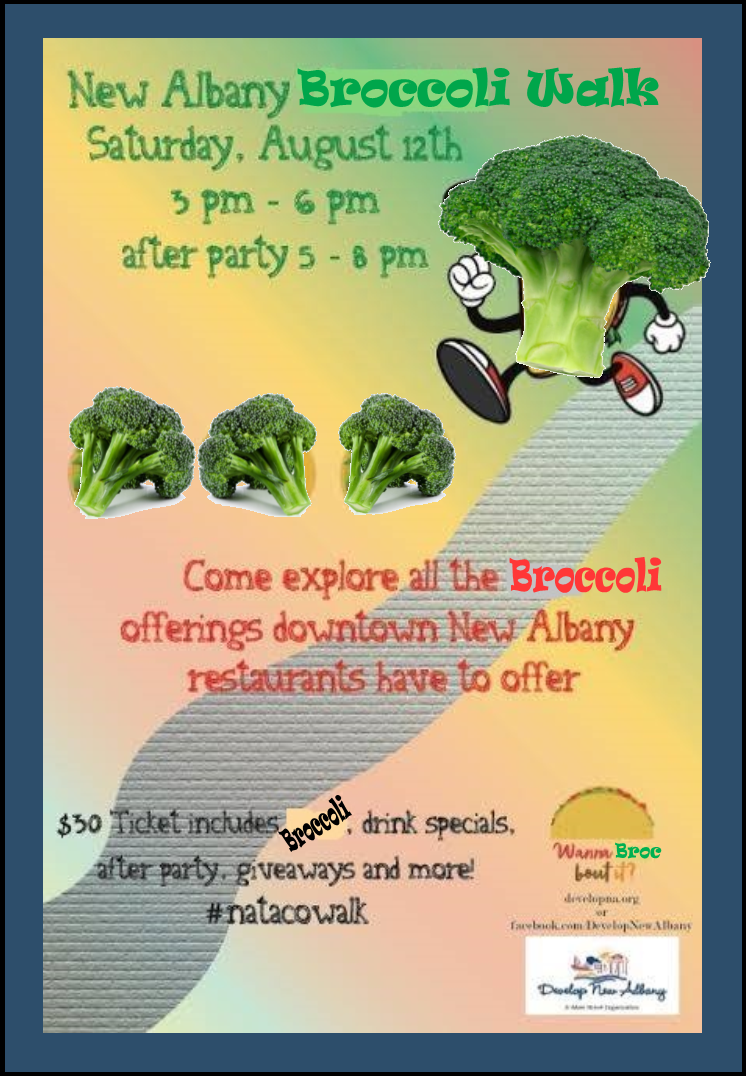 Na Confidential Develop New Albanys Broccoli Walk Is August 12