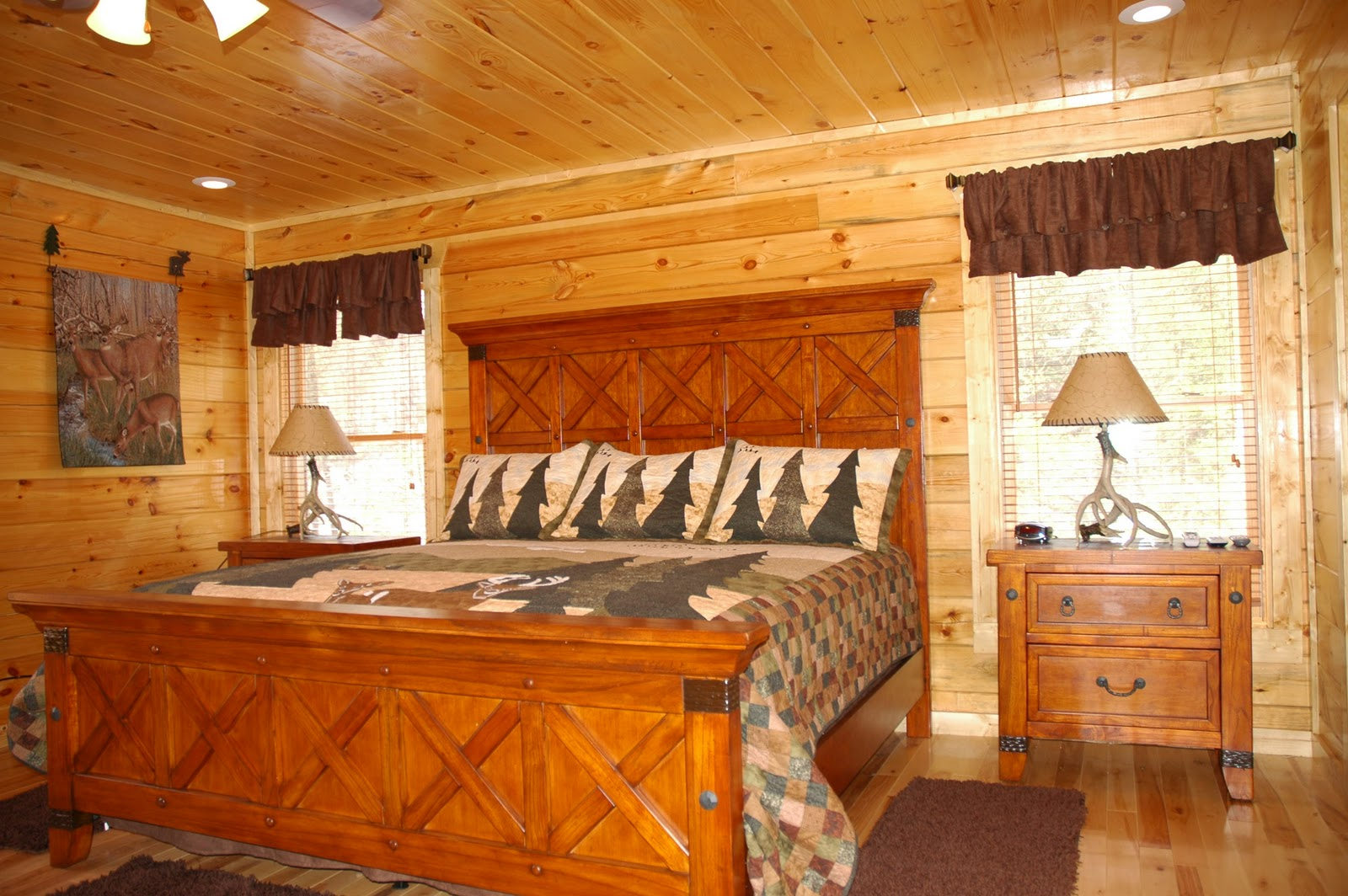 bedroom in perfect one log crystal tn cabins modern luxury cabin with elegant gatlinburg more