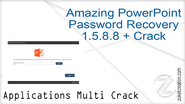 Amazing PowerPoint Password Recovery 1.5.8.8 + Crack