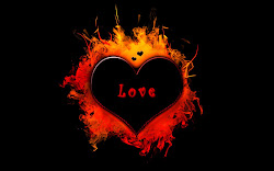 wallpapers desktop backgrounds heart fire hearts background 3d computer cute romantic hd tag burning downloads