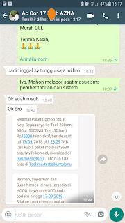 Testimoni Daftar Paket Combo Telkomsel 15GB 75000