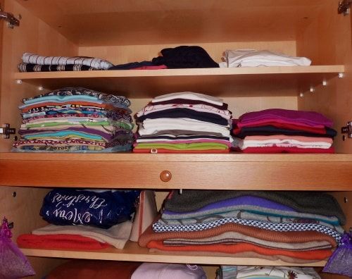 Save money by having a spacious wardrobe for a lot of inexpensive clothes