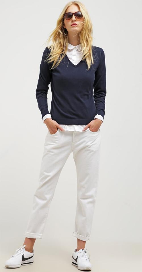 Pullover femme bleu marine GANT